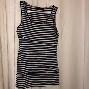 Navy and White Striped Tank The Limited